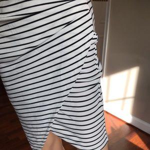 Popular Basics Dresses - Strap dress with black and white stripes